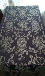 brand new black and silver skulls and roses curtains for Halloween and/or bikers in Goldsboro, North Carolina