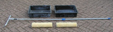 Extra Large Paint Rollers, Handle, Frame and Trays in Lakenheath, UK