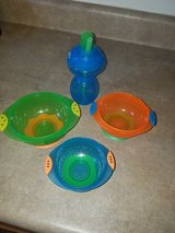 baby suction bowls and straw sippy cup in Fort Drum, New York