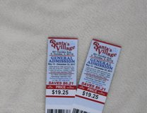 2 Santa's Village General Addission Tickets Holiday Lights 12/23/17 Expire in Yorkville, Illinois