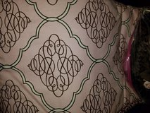 Pink & brown crib skirt and bumpers in Dover, Tennessee