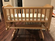 Infant wood cradle with 2 sheets in Westmont, Illinois