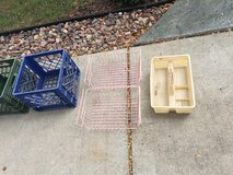 2 pink wire under shelf bins, & 1 tool caddy in Plainfield, Illinois