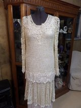 Chantilly lace tunic top dress with lace skirted slip in Alamogordo, New Mexico