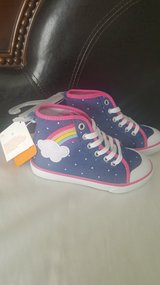 Gymboree hi-top rainbow sneakers size 10 in 29 Palms, California