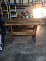 vintage carpenters bench in Lockport, Illinois