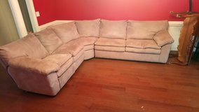 Nice Reclining Sectional Couch With Pull Out Bed! in Warner Robins, Georgia
