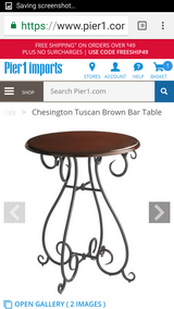 Pier one table in Chicago, Illinois