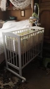 Baby bay w/full bedding for a crib and music mobil in Ramstein, Germany