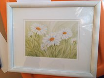White framed daisy picture in Plainfield, Illinois