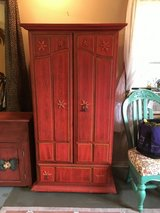 "Large cabinet 2doors 5shelves  66""tall 32""wide 18""deep.   Drawer on bottem in Conroe, Texas"