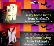 New! Set of 2 Halloween Chair Covers - 2 styles / sizes to choose from in Joliet, Illinois