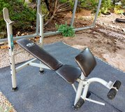Weight bench w/ leg lift & curling rest in Alamogordo, New Mexico