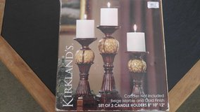 Set of 3 candle holders in Aurora, Illinois