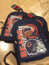 Chicago Bears backpacks brand new in Naperville, Illinois