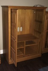 OAK ENTERTAINMENT CENTER/CABINET in Bolingbrook, Illinois