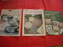 Set of 3 books . in crochet. 2 Leisure  Arts and 1 Plaid. in Naperville, Illinois