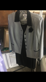 Houndstooth and black suit in Fort Campbell, Kentucky