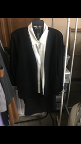 Black and white pantsuit in Fort Campbell, Kentucky