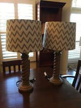 2 New Barley twist table lamps with shades in Batavia, Illinois