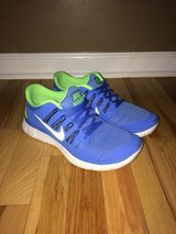 Women's Nike Free 5.0 Baby Blue & Neon Green Shoes sz 10 in Clarksville, Tennessee