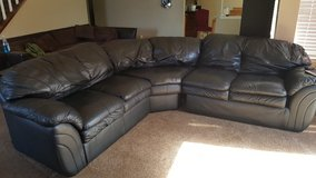 Black-sectional 3 piece couch in Vacaville, California