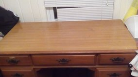 Heavy Solid Wood Older Desk.. Available 12/8 in Camp Lejeune, North Carolina