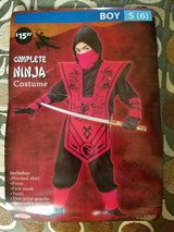 Ninja Costume, Boys Size S (6) in Fort Campbell, Kentucky
