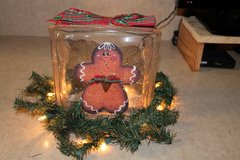 Lighted Gingerbread Glass Block in Lawton, Oklahoma