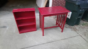 Red Table And Shelf Stand! in Warner Robins, Georgia
