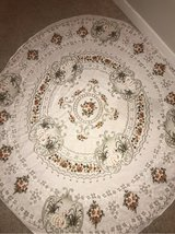 Ukrainian white, brown, green floral round table cloth in Tacoma, Washington