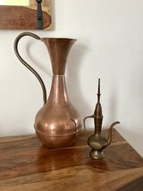 Vintage tall old pitcher and small pitcher in Lakenheath, UK