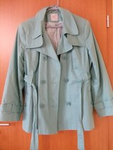 Green belted coat in Ramstein, Germany