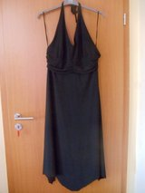Black bias cut halterneck dress in Ramstein, Germany