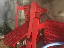 Adirondack Chairs Red in Fort Rucker, Alabama