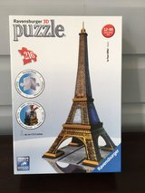 LIKE NEW Ravensburger 3D Eiffel Tower Puzzle - 216 Pieces in Chicago, Illinois
