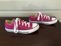 LIKE NEW Dark Pink Womens or Kids Converse All-Star Shoes (W Size 5, M Size 4) in Chicago, Illinois