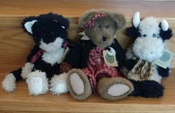 Boyds Bears Retired Jointed Plush (Bear, Cow, Cat) in Naperville, Illinois