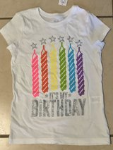 Brand New Children's Place Girl's Birthday T Shirt NWT Size 7/8 in Travis AFB, California