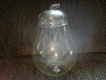 """Glass Pear Shaped Candy Dish w/Lid 10"""" Tall x 5-1/2 in wide, 3-1/4"""" opening. in Leesville, Louisiana"""