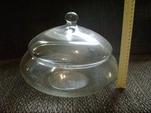 """Large Glass Bowl with Lid. 10"""" dia. x 8"""" tall including lid. in Leesville, Louisiana"""