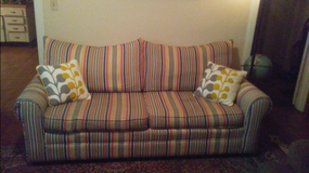 Striped Craft-Master Couch in Moody AFB, Georgia