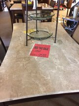 MARBLE DINING TABLE W/ 4 CHAIRS in Alamogordo, New Mexico
