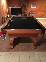 POOL TABLE 8 ft slate great condition. 1 owner bought brand new from g in Glendale Heights, Illinois
