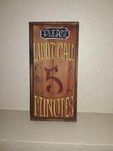 wood sign-Please Limit Call To 5 Minutes in Fort Leonard Wood, Missouri
