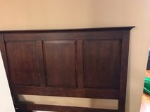 Queen size head and foot board with matching nightstands in Naperville, Illinois