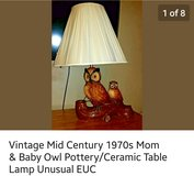 Unique Vintage Mid Century 1970s Table Lamp in Fort Leonard Wood, Missouri