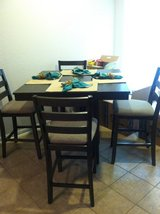 Gray Counter Height Dining Table w/chairs in Kingwood, Texas
