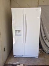 EXCELLENT CONDITION - 2016 Whirlpool side-by-side white refrigerator in New Lenox, Illinois