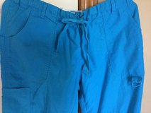 Women Ocean Blue Elastic Waist/Drawstring, 6 Pocket Pant in Cleveland, Ohio